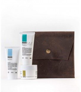 Basix travel pack with leather fold over pouch