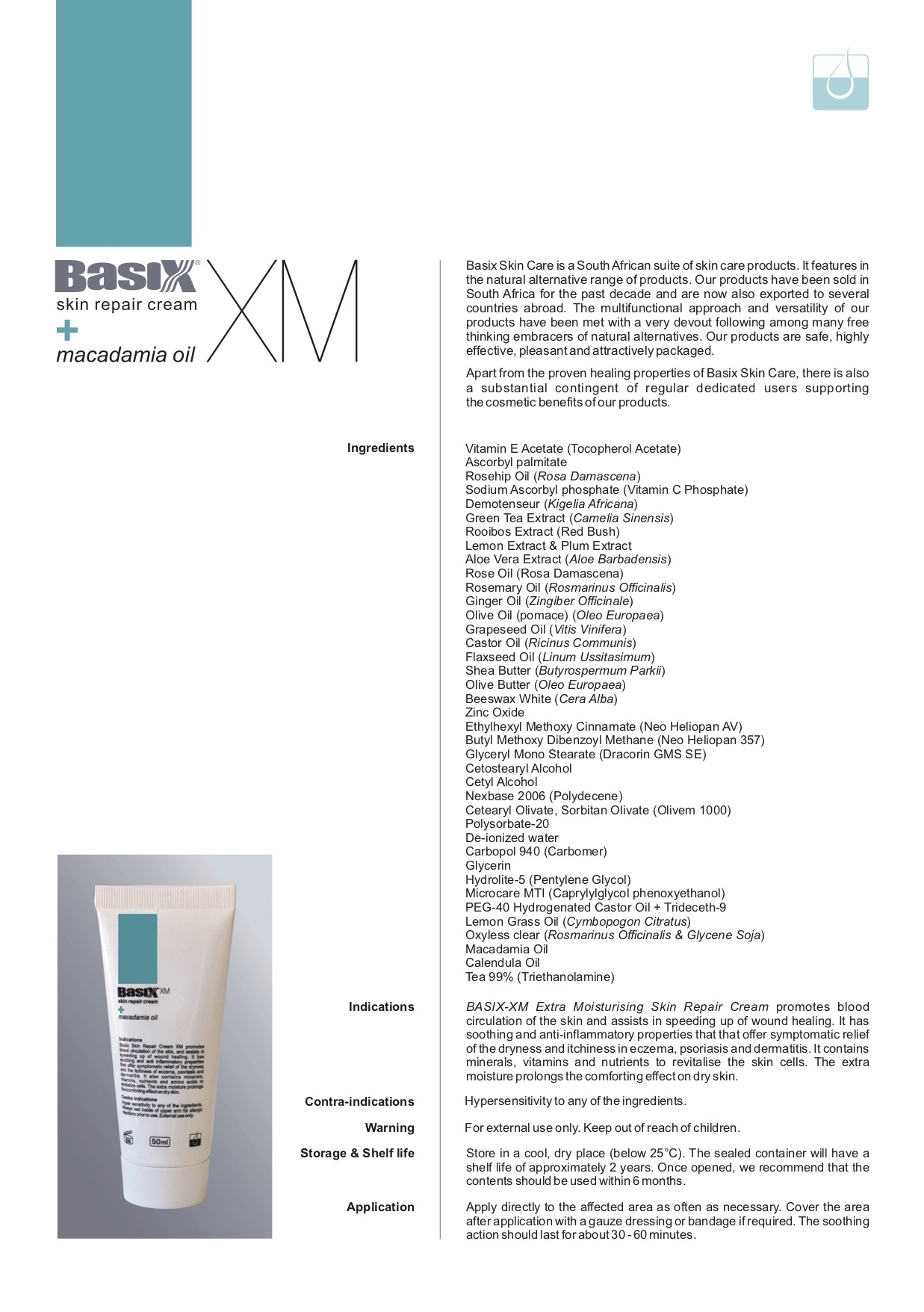 Basix XM Product specifications